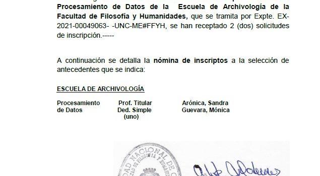 Acta de cierre de inscripción