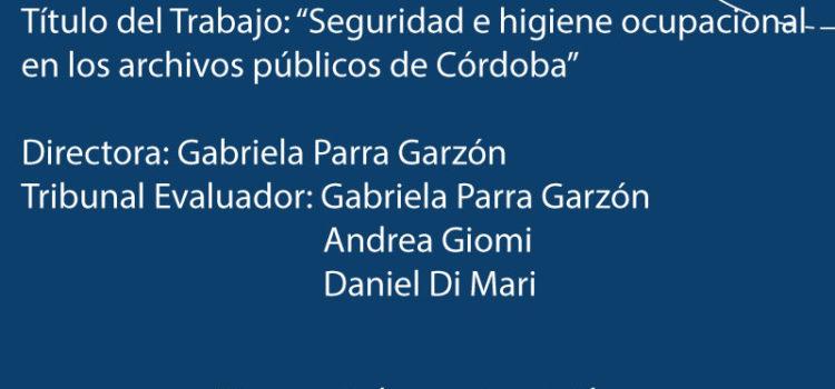 Defensa de Trabajo Final de Licenciatura – Silvia Navarro