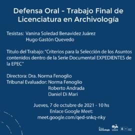 Defensa Oral TFL- Arch. Vanina Benavidez Juárez – Arch. Gastón Quevedo