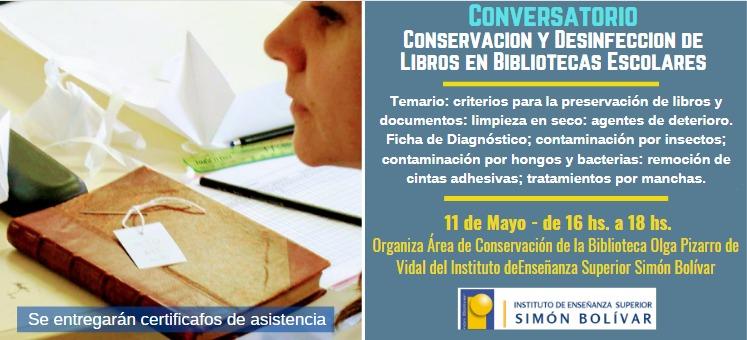 Conversatorio: Conservación y Desinfección de Libros en Bibliotecas Escolares
