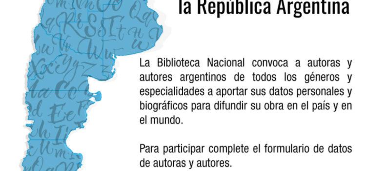 Relevamiento de autoras y autores de la República Argentina