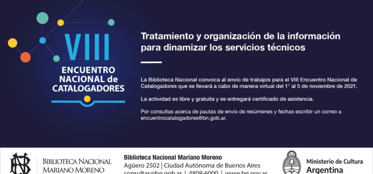 VIII Encuentro Nacional de Catalogadores