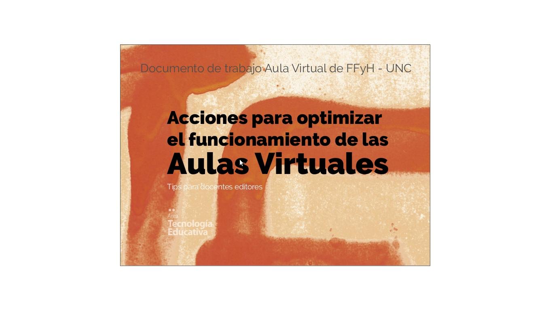 Acciones para optimizar el funcionamiento de las aulas virtuales